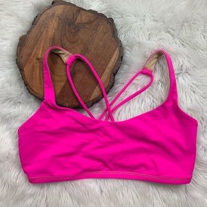 Lululemon Neon Pink Strappy Sports Bra